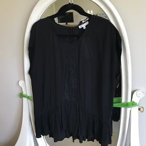 NWT black tunic top from Nordstrom